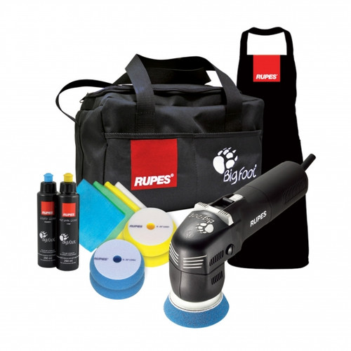 Rupes LHR75E / DLX Deluxe kit with bag apron pads compounds and micros