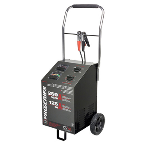 Schumacher PSW-2550 DSR ProSeries 250/125/50/10 Amp 6/12 Volt Manual Wheel Battery Charger/Starter
