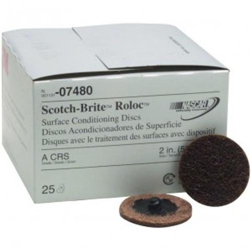 Scotch-Brite Roloc Surface Conditioning Disc, 2 inch, Coarse, 07480