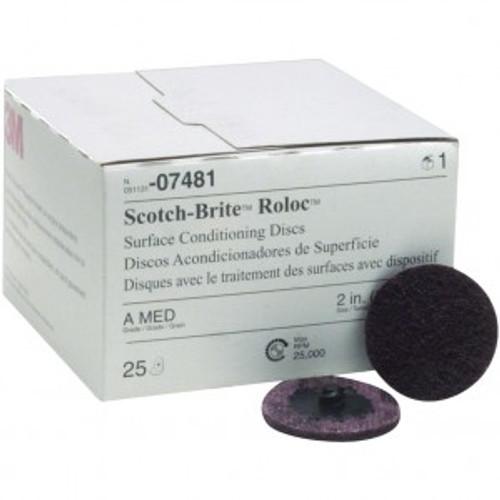 Scotch-Brite Roloc Surface Conditioning Disc, 2 inch, Medium, 07481