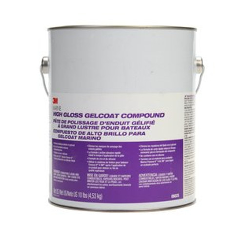 Marine High Gloss Gelcoat Compound, Gallon, 06025