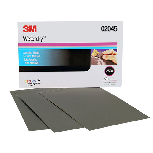 Wet or dry Sheet, 2500 GRIT, 5.5 X 9 INCH 02045