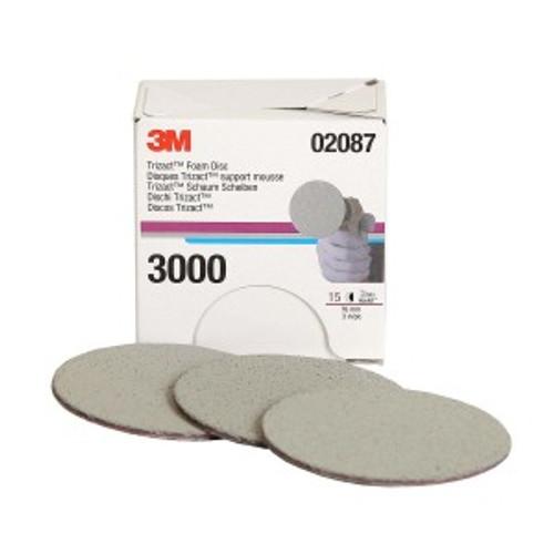 3M TRIZACT HOOKIT FOAM DISCS, 3 INCH, 3000 GRIT, 02087