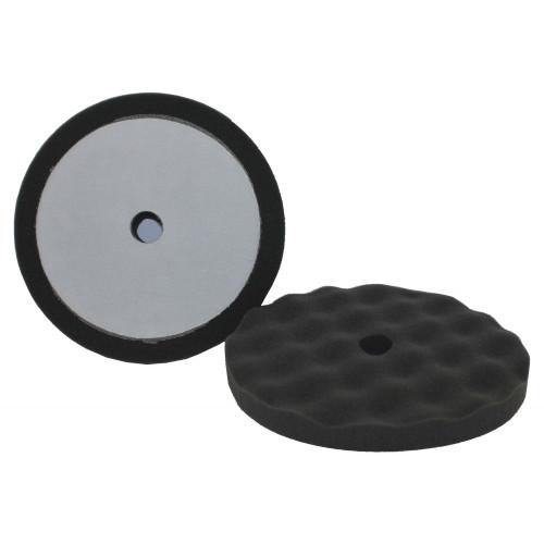 "8"" Black Velcro Waffle Foam Pad Final Finish (HB502-C)"