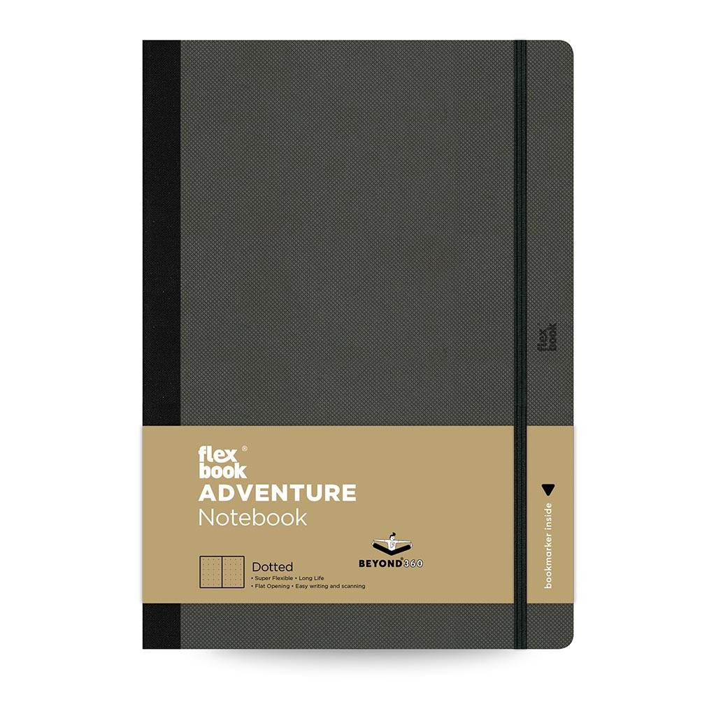 Flexbook Adventure Notebook Large Dotted Off-Black