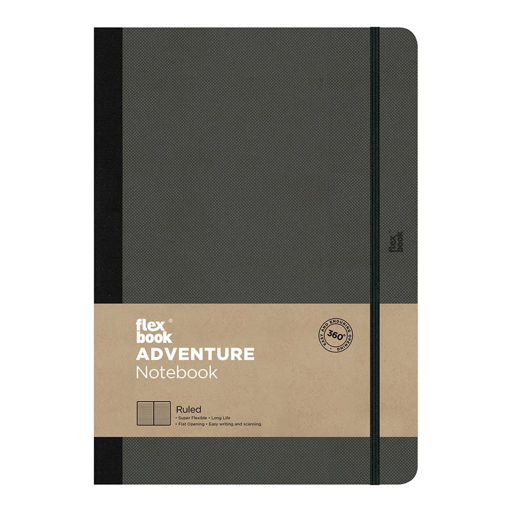 Flexbook Adventure Notebook Large Ruled Off-Black