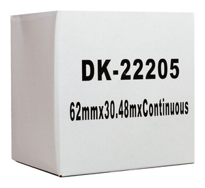 Icon Compatible Brother DK Paper Tape 62mmx30m Black on White