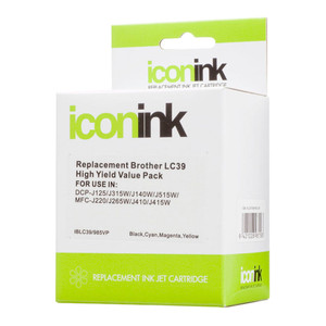 Icon Compatible Brother LC39 BCMY Ink Value Pack