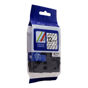 Icon Compatible Brother TZ Tape 12mm Black on Clear