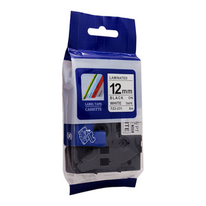 Icon Compatible Brother TZ Tape 12mm Black on White