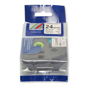 Icon Compatible Brother TZ Tape 24mm Black on White