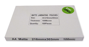 Icon Laminating Pouches A4 Matte 100mic Pack 100