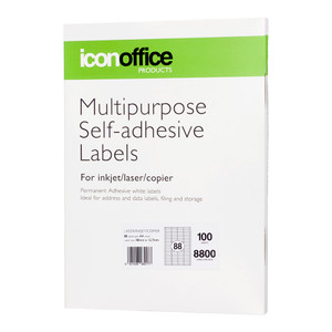 Icon Multipurpose Labels 48x12.7mm 88 Per Sheet