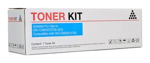 Icon Compatible OKI C5600/C5700 Cyan Toner Cartridge