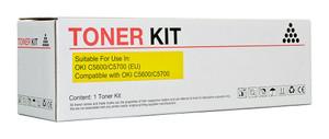 Icon Compatible OKI C5600/C5700 Yellow Toner Cartridge