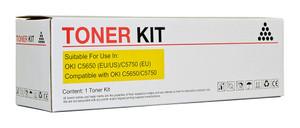Icon Compatible OKI C5650/C5750 Yellow Toner Cartridge