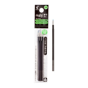 Pilot Frixion 3 in 1 Refill Extra Fine Black, Pack of 3 (LFBTRF30EF3B-EX)