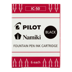 Pilot Fountain Pen Ink Cartridge Black 6Pk (IC-50-B)