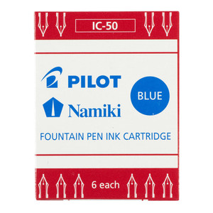 Pilot Fountain Pen Ink Cartridge Blue 6Pk (IC-50-L)