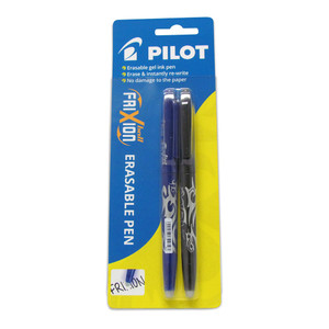 Pilot Frixion Ball Erasable Fine Black Blue 2Pk