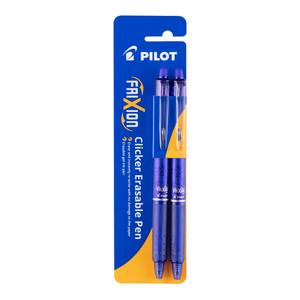 Pilot Frixion Clicker Erasable Fine Blue Pack of 2