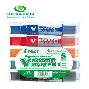 Pilot BeGreen V Board Whiteboard Marker Chisel Asstd. 5Pk (WBMA-VBM-MC-S5BG)