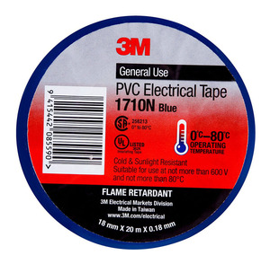 3M Electrical Tape 1710N-BU PVC 18mm x 20m Blue
