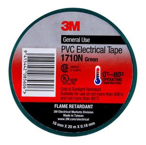3M Electrical Tape 1710N-GR PVC 18mm x 20m Green