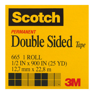 Scotch Double Sided Tape 665 12.7mm x 23m