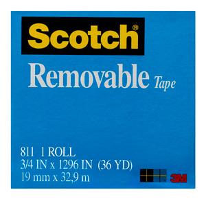 Scotch Removable Magic Tape 811 19mm x 33m