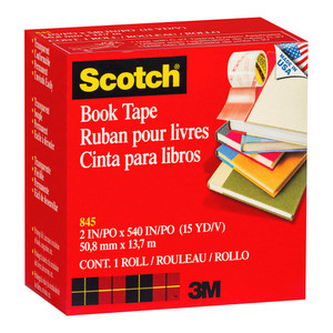 Scotch Tape Book Repair 845  50mm x 13.7m Transparent