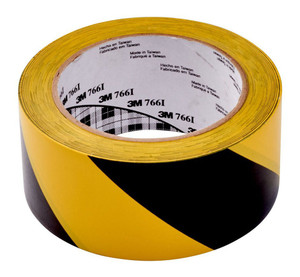 3M Vinyl Tape 766 50mm x 33m Yellow/Black