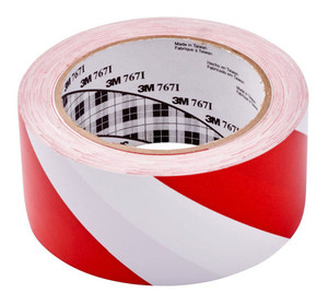 3M Vinyl Tape 767 50mm x 33m Red/White