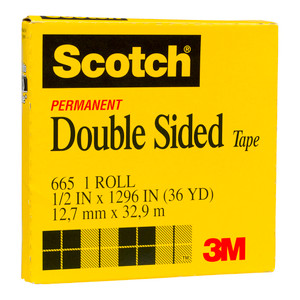 Scotch Double Sided Tape 665 12.7mm x 33m