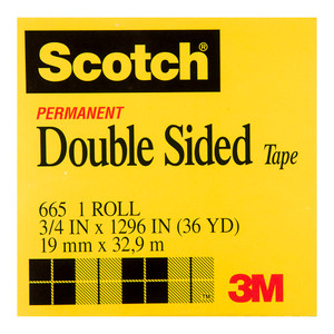 Scotch Double Sided Tape 665 19mm x 33m