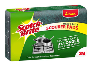 Scotch-Brite Heavy Duty Scouring Pad  Pkt/4