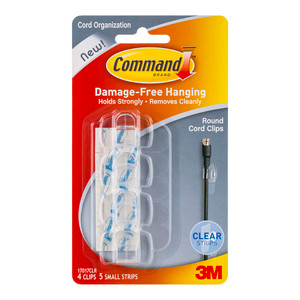 Command Clips Round Cord 17017CLR Clear Pk/4