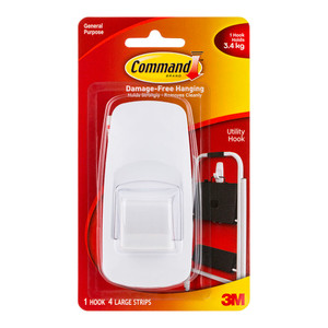 Command Hook 17004 Jumbo White