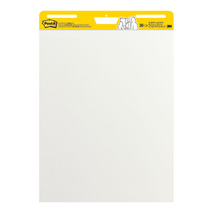 Post-it Super Sticky Easel Pad 559 White W635 x L762mm  30 Sheet Pad