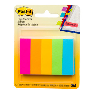 Post-it Page Markers 670-5AN Capetown Collection 13x50mm Pkt/5