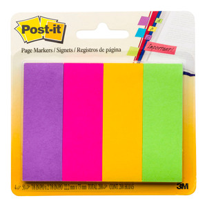 Post-it Page Markers 671-4AU 22x73mm Jaipur Pack of 4