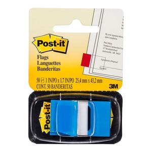 Post-it Flags 680-2 Singles Blue 25x43mm Pkt/50