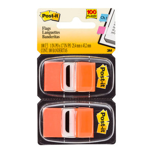 Post-it Flags 680-OE2 Twin Pack Orange 25x43mm Pkt/100