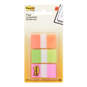 Post-it Flags 680-OLP 25x43mm, Pack of 3
