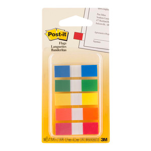 Post-it Flags 683-5CF Mini Assorted Portable 12x43mm Pkt/100