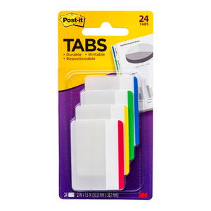 Post-it Durable Tabs 686F-1 50x38mm Pkt/24