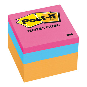 Post-it Notes Mini Cube 2051-N Orange Wave 48x48mm 400 sheet cube