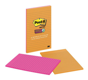 Post-it Super Sticky Lined Notes 5845-SS 127x203mm Rio De Janiero 45 sheet pads Pkt/2