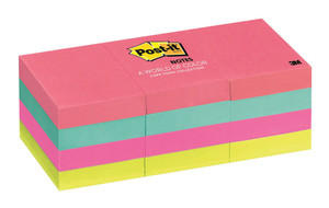 Post-it Notes 653-AN Capetown Collection 35x48mm 100 sheet pads Pkt/12