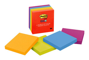 Post-it Super Sticky Notes 654-5SSAN Marrakesh 76x76mm 90 sheet pads Pkt/5